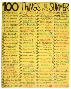 Creativity To-Do List for the Summer