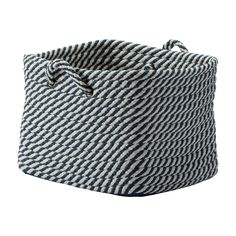 Large Navy and White Basket - Ethan Allen US