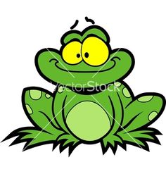 Cartoon frog vector 1444060 - by kennykiernan on VectorStock®