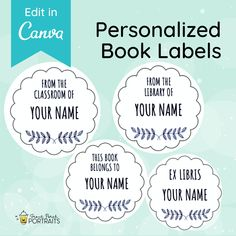 These personalized book stickers will help keep track of your favorite books as you build your library collection. Perfect for your personal or classroom library, gifts for teachers, book lovers and budding librarians. Ex Libris, Classroom Library, From the Library Of, Book Club Recommendations, Book Club List, Book Club Reads, Book Club Books, The Book, Library Book Labels, Library Books, Personalized Teacher Gifts, Great Teacher Gifts