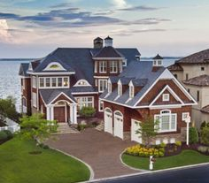 *Water-front living at it's finest, 1. Absolutely gorgeous home. Very similar in concept to a shingle-style home, but modernized with a beach house twist. When can I move in ?