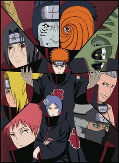 Akatsuki Group. My favorite Akatsuki is Itachi, becuase he is smart and has a reason for everything he does.