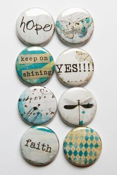 Lovely Words 5 by aflairforbuttons on Etsy, $6.00  #flair #aflairforbuttons #flairbuttons