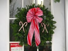 Candy Cane Wreath from Werner Tree Farm
