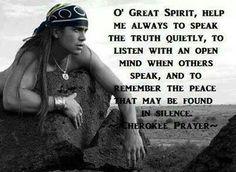 o' Great Spirit...