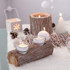 Optez pour l'authentique !    Créer une déco de fête plus vraie que nature avec ce magnifique centre de table, en bois de bouleau, de 21 cm de long ! Ambiance chaleureuse et bucolique garantie pour vos fêtes de fin d'année !