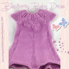 #cpromo Sweet pink baby dress leaf top and button back 12 month in Blackberry Caron Simply Soft