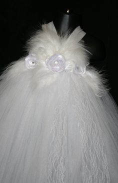 Angel Tutu Costume White Tutu Dress Tutu by LittleMissTrendyTutu