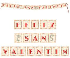 """Guirnalda de cartón y listón rojo. $120  Frase """"Felíz San Valentín"""" Despedidas de soltera / guirnalda personalizada"""