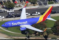 Southwest Airlines, Boeing at Los Angeles (KLAX) March 2015 Airplane Art, Southwest Airlines, Pizza Rolls, Air Planes, Commercial Aircraft, Allegiant, Aircraft Pictures, Nose Art, Airports