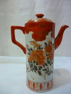 Japanese Kutani Meiji Period Chocolate Pot by PamelaMurphyVintage, $95.00