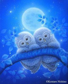 Owl art by Kentaro Nishino