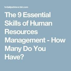 Hr Management The Foundation To A Successful Organization Sk