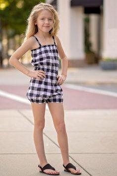 Isla Dress, Top and Romper Pattern Little Girl Models, Cute Little Girl Dresses, Beautiful Little Girls, Cute Girl Outfits, Kids Outfits, Cute Little Girls, Preteen Girls Fashion, Young Girl Fashion, Kids Fashion