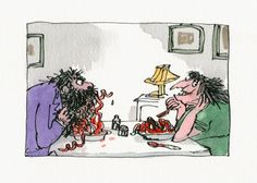 A Quentin Blake Art Show Is Bringing Your Favorite Children's Books Back To Life - the Twits. Roald Dahl The Twits, Roald Dahl Characters, Quentin Blake Illustrations, Expositions, Ol Days, Children's Book Illustration, Book Illustrations, Matilda, The Guardian
