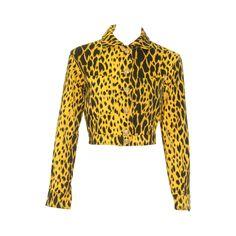 Gianni Versace Gold Animal Printed Jacket Spring 1992 1