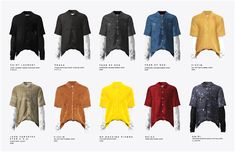 Male Layered Shirt Recolors for The Sims 4 by Black-le