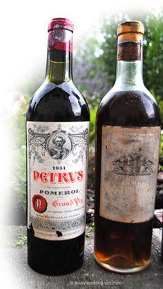 1 Bouteille de 75 cl - PETRUS 1951. Estimation gratuite, vieux vins à vendre, rachat de vieilles bouteilles millésimes rares. © www.wanted-vin.com