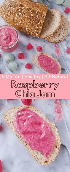 Raspberry chia jam is super simple to make. Requires only five ingredients and a blender. No refined sugar or canning needed. Try this out for you next healthy breakfast. Quick Healthy Breakfast, Healthy Snacks, Healthy Recipes, Coconut Recipes, Vegan Jelly, Quick Easy Vegan, Raspberry Recipes, Jam Recipes, Canning Recipes
