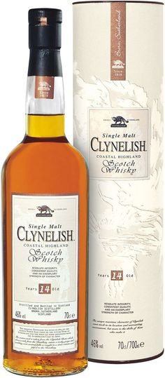 Clynelish 14 Year Old Single Malt Coastal Highland #Scotch Whisky.  This outstanding #whisky, aged for one-and-a-half decades, is a rare distillery bottling from one of the more obscure - and similarly revered - Scottish distilleries. | @Caskers