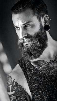 pierced, bearded and tattooed