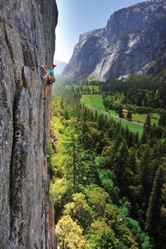 Rock Climbing at Yosemite Valley, California.