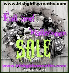 Come celebrate the ALL-NEW www.irishgirlswreaths.com! ALL Fall and Halloween Wreaths are on SALE!  *No coupon code needed, wreaths priced as marked.*