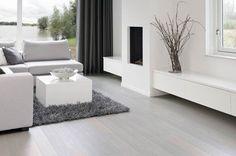 salon - houtkachel en tv meubel