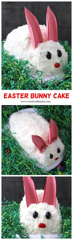 Easter Cake or Bunny Cake – Surprise your little ones with this cute little bunny cake for Easter or Birthday or any special occasion. Easy Easter Desserts, Easter Dishes, Easter Recipes, Easter Food, Easter Bunny Cake, Easter Cookies, Easter Treats, Holiday Treats, Holiday Fun