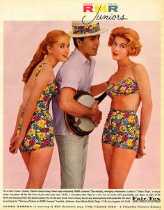1960's Rose Marie Reid (RMR) Juniors fashion ad starring James Darren. via Ryan Khatan,flickr