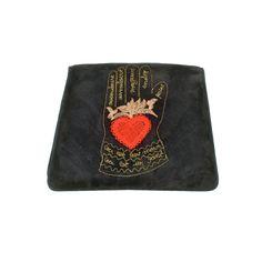 Sonia Rykiel Ceci Est Un Gant Embroidered Suede Clutch | 1stdibs.com