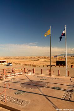 The Four Corners Monument; the point where Colorado, Arizona, New Mexico and Utah state lines meet..... Be in 4 places at once