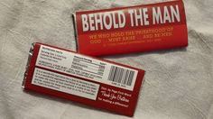 Chocolate bar wrapper I designed for our Fathers Day handout in our LDS church, to honor all men 18 and older in our congregation, not just those who have children.