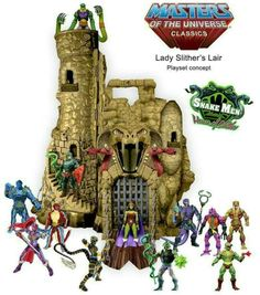 Masters Of The Universe Classics: Lady Slither's Lair Playset Concept.