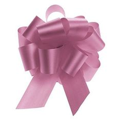 """5.5"""" Pink Pull Bows Pack of 50 Gift Wrapping Bow Bags Party Supplies Baskets #LetsCreateIt #WrappingPresentsBows"""