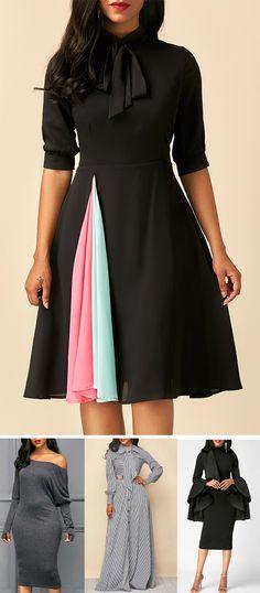 hot slae fashion dresses in fall