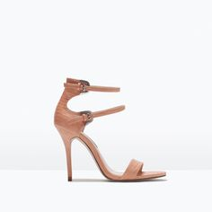 DOUBLE STRAP HEELED SANDALS-Shoes-Woman-SHOES & BAGS | ZARA United States