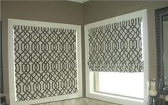 pattern+Fabric+Roman+Shades | Roman shades for master bath