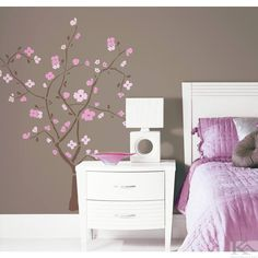 Spring Blossom Tree Wall Stickers for Decorating Kid's Room or a Playroom - Giant Spring Blossom Tree Wall Decal - Japanese Cherry Blossom Tree Wall Decals Removable Wall Stickers, Wall Decor Stickers, Wall Decals, Wall Art, Room Stickers, Wallpaper Stickers, Wall Mural, Pink Cherry Blossom Tree, Blossom Trees