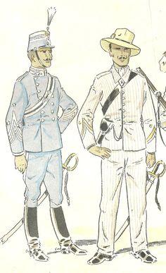 MINIATURAS MILITARES POR ALFONS CÀNOVAS: CUBA.- Uniformes Militares de España , 1890, dibujos de D. J ose Mº .Bueno