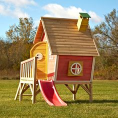 Kids will create their own fun space in the complete Hide-N-Slide Playhouse. This uniquely designed and colorful playhouse offers a place for kids to call their own while sliding in and out of their hideaway.