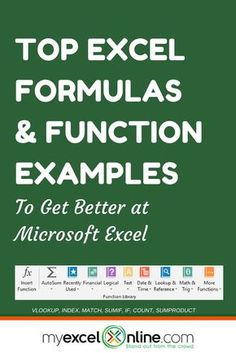 CLICK TO VIEW ALL 50+ EXCEL FORMULAS   Learn Microsoft Excel Tips + Free Excel Tutorials & Cheat Sheets   The Most In-Depth Excel Video Courses Online at http://www.myexcelonline.com/138-23.html