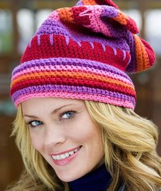 Valentine Hat Free Crochet Pattern from Red Heart Yarns