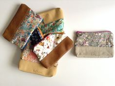 LAST ONE Leather & Liberty of London pouch by by halfmoonatelier, €20.00