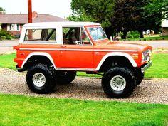 Orange classic ford bronco
