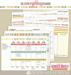 Printable planner - only $12.99! The Everything Planner : 2012-2013 by Gennifer Bursett