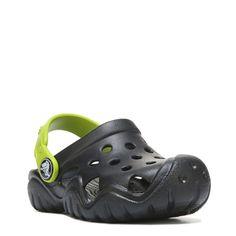 Crocs Kids' Swiftwater Clog Toddler/Preschool Shoes (Black) - 10.0 M