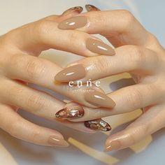 Chic Nails, Stylish Nails, Trendy Nails, Asian Nail Art, Asian Nails, Business Nails, Work Nails, Latest Nail Art, Sparkle Nails