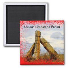 Kansas Limestone Fence MAGNET