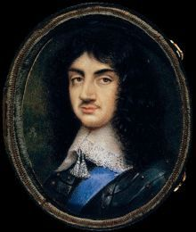 """King Charles II (age - Painting attributed to David Des Granges, - """" a fantastic likeness considering the conditions this would have ben produced in exile shortly after the Battle of Worcester defeat and all that tree climbing"""" Uk History, British History, Charles Ii Of England, Adele, House Of Stuart, Mary Queen Of Scots, Miniature Portraits, English Royalty, British Monarchy"""